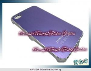 China Soft Rabito silicone cover for iphone 4g/4gs with purple colors on sale