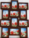 best selling wood photo frame brown photo frame multi photo frame home decoration