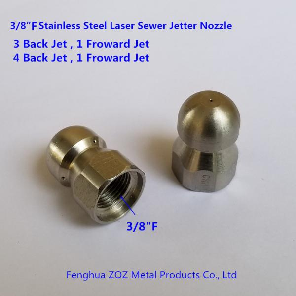 "Sewer Cleaning Jetter Nozzle 3//8/"" 9 Jets Male 1//4/"" 4 Jet Pressure Washer Drain"