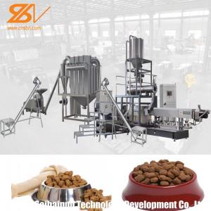 China Twin Screw Pet Food Extruder Machine Pet Feed Processing Machine Lively Shape Plant Simens Motor on sale