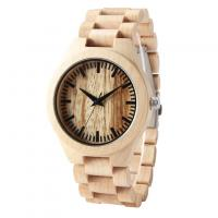 China Hot Sale cheap wooden wrist watch with custom colorful wooden watch For Men on sale