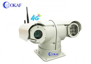 China OKAF 4G Anti Shock Vehicle Roof PTZ IP Camera RS485 For Police on sale