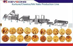 China KS -76 Snacks Production Machines , Snacks Frying Machine For Kurkure Producing on sale