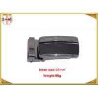 China Reversible Zinc Alloy Metal Belt Buckle For Men With Clips 35mm on sale