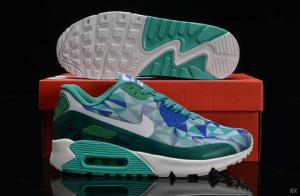 China Nike Air Max 90 Hyperfuse Women Green Blue White Shoes on sale