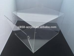 China Custom made clear acrylic shoe display box, sneaker shoe box with logo printing on sale