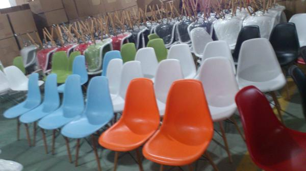 Dc231a Orange Plastic Mid Century Modern Shell Chair Images
