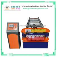 China Construction Metal Roofing Panel Machine For Colored Ceramic Tile on sale