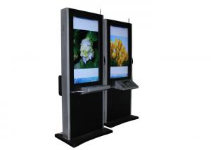 China 55 Inch LCD Self Service Payment Big Digital Signage Kiosk With Multi Lingual Keyboard on sale