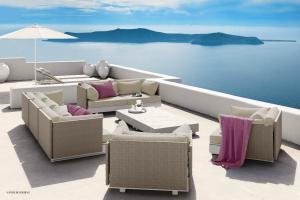 China Waterproof Rattan Modern Outdoor Furniture Corner Sofa Dining Set For Leisure Area on sale