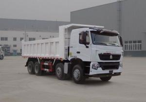 China 380HP HOWO A7 Used Dump Truck Front Side Lifting Type 300L Fuel Tanker Capacity on sale