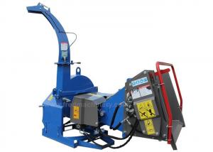 China 4 Cutting Knives Tree Shredders Chippers , Hydraulic Pto Wood Chipper on sale