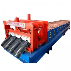 China 8000mm Building Galvanized Glazed Tile Roll Forming Machine on sale