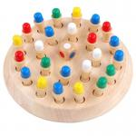 5.5cm Wooden Montessori Baby Toys Memory Matchstick Chess Game