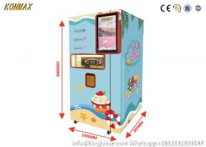 China 24H 1.5kw Soft Ice Cream Vending Machine LCD Touch Screen on sale