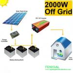 2kw Off Grid Apartment / Villa Solar Pv Energy System