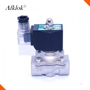 China 2W-320-32B stainless steel 32mm 1-1/4 12 volt 2 way water solenoid valve on sale