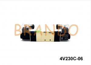 China 0-8 Bars 5 / 2 Double Electric Solenoid Valve 4V230C-06 For Pneumatic on sale