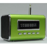 China HIFI Mini Speaker MP3 Player Amplifier Micro SD TF Card USB Disk Computer Speaker with FM Radio Silver/Black on sale