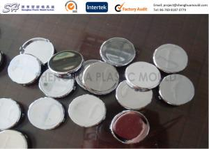 China Chrome Plated Plastic Parts ABS Button Covers , Custom Injection Molding Service on sale