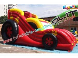China Durable PVC Inflatable Car Dry Slides Toys Commercial Inflatable Slide on sale