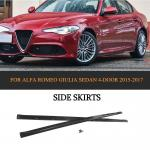 Carbon Fiber Car Side Skirts Extension for Alfa Romeo Giulia Sedan 4-Door 2015-2017