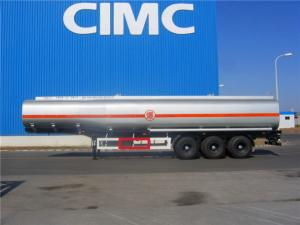 China CIMC tanker truck price stainless steel aluminum tank trailer for sale on sale