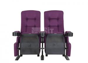 China Commercial Steel Frame Public Theater Seating Purple Color With Rocker Back on sale