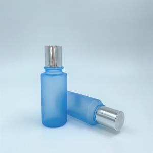 China PP Cap Matte Blue Color Plastic 150ml Pet Bottle For Personal Skincare on sale