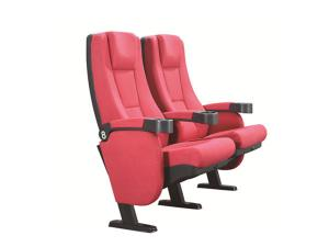 China PP Injection Cover 580mm Movie Theatre Chairs With Soft Arm Head Cushion on sale