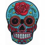 Adhesive Back Skull Bone Twill Embroidery Sewing Badge Pantone Color