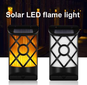 China Outdoor Bright  Flame Lights 66LED Solar Panel Powered LED Flame Garden Lights on sale