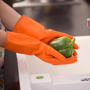 China Household Use Kitchen Rubber Gloves  Anti-Oil And Waterproof Household Gloves on sale