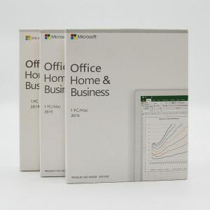 China Multi Language Microsoft Office 2019 Home And Business PKC Retail Box on sale