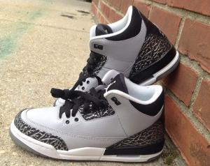China perfect air jordan 3 wolf grey on sale