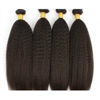 China Virgin Indian Human Hair Bundles Coarse Kinky Straight Hair Extensions on sale