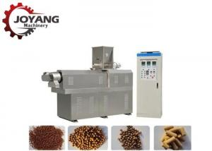 China Twin Screw Conveyor Floating Fish Feed Extruder Machine Fully Automatic on sale