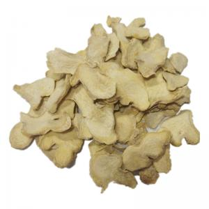 China None GMO 1000cfu/G 6-8mm Spicy Yunnan dehydrated ginger flakes high so2 on sale