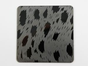 China China Etched Stainless Steel Sheet Factory with colorful and black etching stainless steel on sale