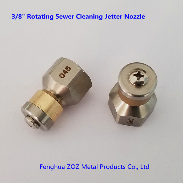 """Pressure Washer Drain Sewer Cleaning 045 Rotating Nozzle Jet 1//8/"""" Female 3 Rear"""