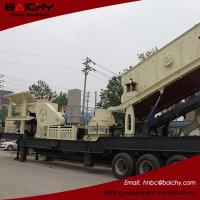 China New type energy saving mobile stone crushing and screening plant for sale on sale