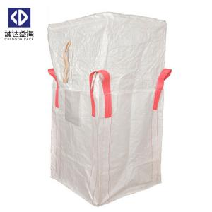 China White Jumbo Bulk Bags Tubular Type One Ton Sling Bag For Sand Cement Seed on sale