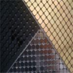 Decorative Aluminum Sequins Fabric Mesh For Table Cloth / Table Runner