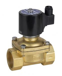 China DC 24v Natural Gas Solenoid Valve Brass Electric Solenoid Valve Low Pressure on sale