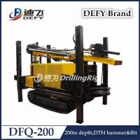 China Defy DFQ-200 Hydraulic DTH Hammer Shallow Water Well Bore Hole Drilling Machine Price on sale