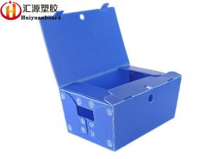 China Environmental Corrugated Plastic Totes , Corrugated Plastic Box With Lid on sale