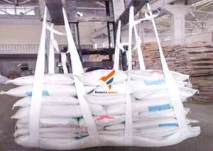 China PP Woven Material Sling Bag white Color For Cement/ Gravel Mining on sale