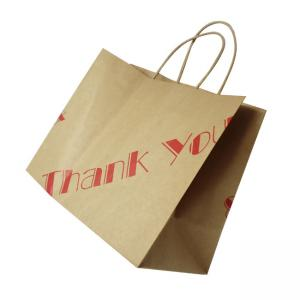 China Customized Size Kraft Paper Bags For Promotions / Gifts / Advertisements on sale