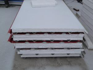 China Colored Steel EPS Polystyrene Sandwich Panel for roof and wall on sale