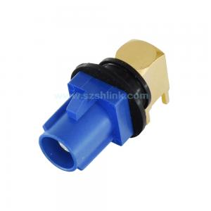 China 【High quality】waterproof Fakra SMB Plug PCB mount right angle Male RF Car connector,Made in China on sale